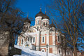 Alexander Nevsky cathedral. Tallinn Stock Photo