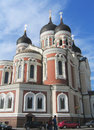 Alexander nevsky russian orthodox cathedral à tallinn estonie Images libres de droits