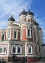 Alexander nevsky russian orthodox cathedral i tallinn estland Royaltyfria Bilder