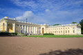 At the Alexander Palace, sunny day. Tsarskoye Selo, Saint Petersburg, Russia Royalty Free Stock Photo