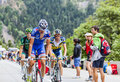 Alexandre geniez climbing alpe d huez france july the french cyclist from fdj team the difficult road to during the Royalty Free Stock Photo