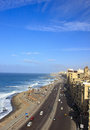 Alexandria beach of egypt from high tower Stock Images