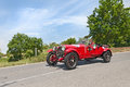 Alfa romeo c mms in mille miglia the crew amenduni vicari on a old racing car runs historical race on may colle di val d elsa Stock Image