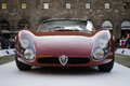 Alfa romeo stradale from car ehxibition of italian old timer in signoria square florence italy Stock Photography