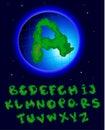 Alfabeto de la tierra Imagen de archivo libre de regalías