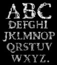 Alfabeto di Cyber Fotografie Stock Libere da Diritti