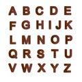 Alfabeto oxidado da placa de metal Foto de Stock Royalty Free