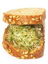 Alfalfa sprouts sandwich Royalty Free Stock Photos