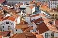 Alfama rooftops Lisbon Stock Images