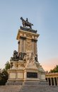 Alfonso xii monument in buen retiro park madrid statue of Stock Photo