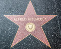 Alfred hitchcock star on the hollywood walk of fame along blvd in downtown california Royalty Free Stock Image