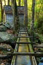 Alfred reagan s tub mill and light is located along the roaring fork motor trail in the great smoky mountains national park the Stock Image