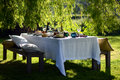 Alfresco dining Royalty Free Stock Photo