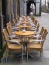 Alfresco sidewalk dining cafe Royalty Free Stock Photo
