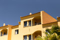 Algarve apartment a view of the facade of a typical in portugal Royalty Free Stock Images