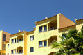 Algarve apartment a view of the facade of a typical in portugal Royalty Free Stock Image