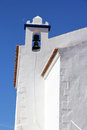 Algarve church beautiful situated in portimao with dark blue sky as background Royalty Free Stock Photo