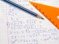 Algebra Royalty Free Stock Photos