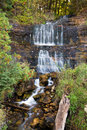 Alger Falls in Munising, Michigan Royalty Free Stock Photo