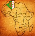 algeria on actual map of africa Royalty Free Stock Photo