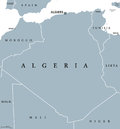 Algeria political map Royalty Free Stock Photo