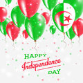 Algeria Vector Patriotic Poster. Independence Day.