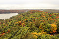 Algonquin national park during autumn landscape view of the entire Stock Image