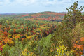 Algonquin national park during autumn landscape view of the entire Stock Photo