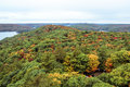 Algonquin national park during autumn landscape view of the entire Royalty Free Stock Photos