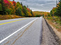 Algonquin Provincial Park cache lake  Hyway 60 in Autumn Fall Colors Royalty Free Stock Photo