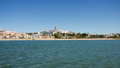 Algés village and beach oeiras portugal suburbs of lisbon view from tagus tejo was once a very popular for lisboa people on the Royalty Free Stock Photo