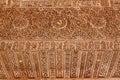 Alhambra courtyard moorish wall designs granada andalusia spain windows patterns Stock Photos
