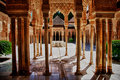 Alhambra Courtyard Royalty Free Stock Photo