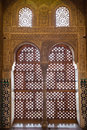Alhambra de Granada: moorish window Stock Photography