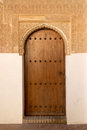 Alhambra door antique in generalife palace of granada Royalty Free Stock Image