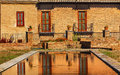 Alhambra garden pool reflection abstract granada andalusia spagna Fotografie Stock
