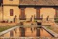 Alhambra garden pool reflection abstract granada andalusia spanien Arkivfoto
