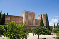 The alhambra in granada city andalucia spain Royalty Free Stock Images