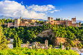Alhambra of Granada, Spain. Royalty Free Stock Photo