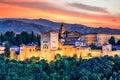 Alhambra of Granada, Spain. Royalty Free Stock Photo