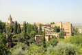 Alhambra granada spain the historical in Royalty Free Stock Photos
