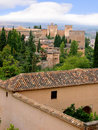 The alhambra palace in southern spain at granada is the jewel of islamic art in europe the moors rules spain for centuries until Royalty Free Stock Photography