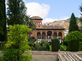 The alhambra palace in southern spain at granada is the jewel of islamic art in europe the moors rules spain for centuries until Stock Photography