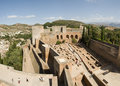 Alhambra ruins Stock Photography