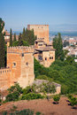 Alhambra towers Stock Photos