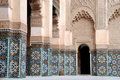 Ali Ben Youssef Madrassa in Marrakech, Morocco Royalty Free Stock Photography