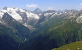 Alibek Gorge (Alibek Valley), Main Caucasian ridge, Caucasus, Russia Royalty Free Stock Photo