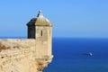 Alicante castle turret landscape Royalty Free Stock Photo