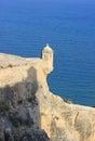 Alicante castle turret portrait Royalty Free Stock Photo