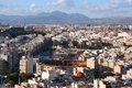 Alicante cityscape of comunidad valenciana spain seen from saint barbara castle Royalty Free Stock Photo